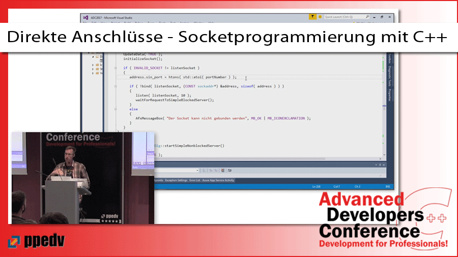 2017/ADCpp/ADCpp-Advanced-Developers-Conference-Datenaustausch-Zugriffsberechtigung-wsastartup-visual-Studio-Socketprogrammierung-CPlusPlus-MatthiasWedemeyer