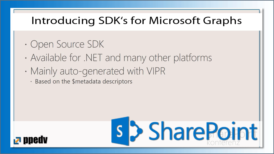 2017/SharePoint/sharepoint-konferenz-microsoft-SDK-Graph-API-JavaScript-migration-DraganPanjkov