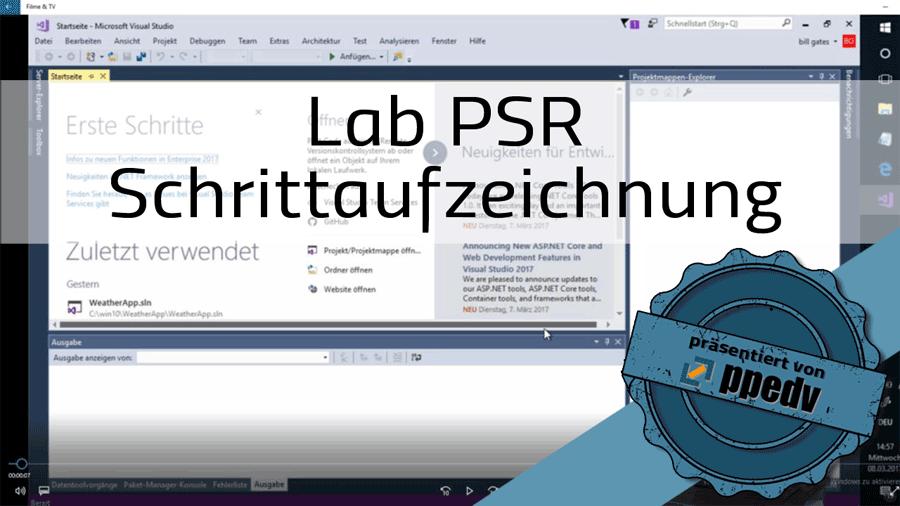 2017/Trainer/Labs-PSR-Schritaufzeichnung-problem-steps-recorder-Problemaufzeichnung-Visualstudio-HannesPreishuber